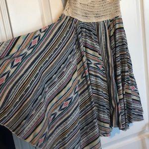Surf Gypsy Dresses - Never worn short boho dress with lace up back